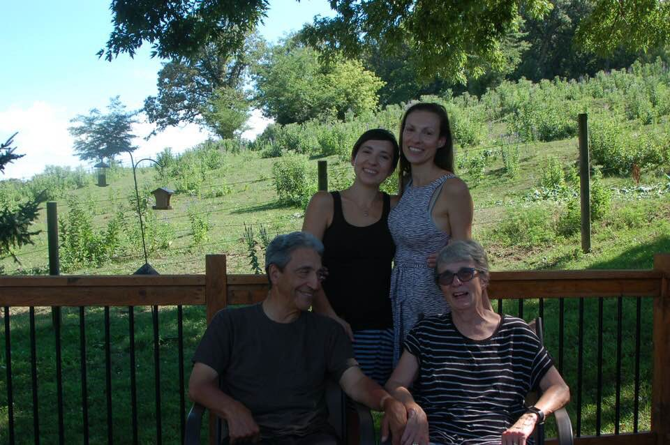 My childhood neighbors, the Cervantes family- from left, Michael, BC, Stephanie, Benita
