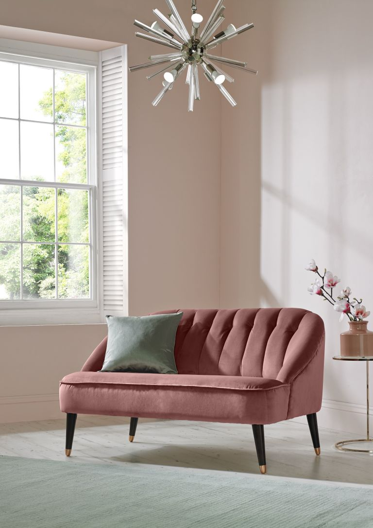 "Dainty Blushes - It seems like every paint and color company under the sun has come out with a ""Color of the Year,"" and Graham & Brown is no different. Their color pick for 2018 is a dusty shade of pink called Penelope. Graham & Brown's Penelope was inspired by a Greek goddess of the same name. Like the goddess Peanelope, this beautiful blush is uncomplicated, sophisticated, and perfect for the spacious rooms of your home."