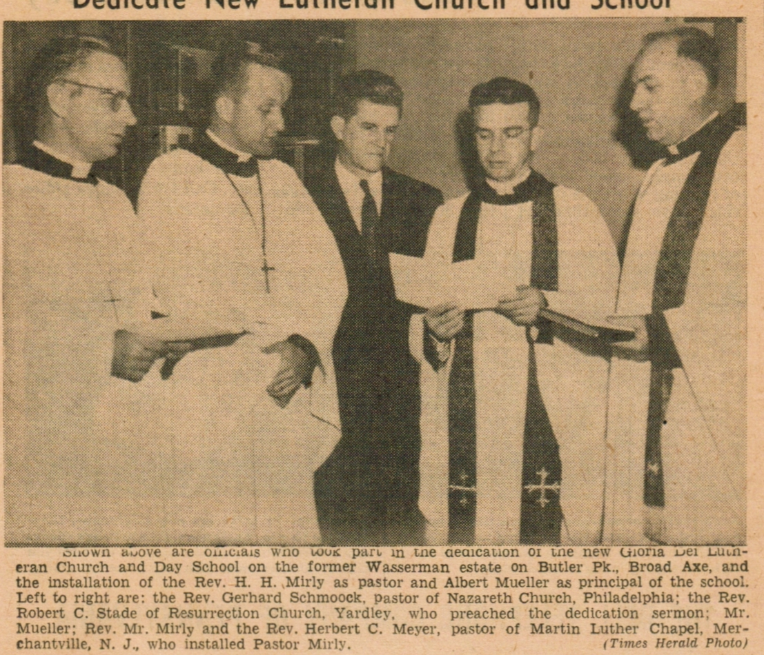 Church Dedication Photo, Times Herald (click to zoom)