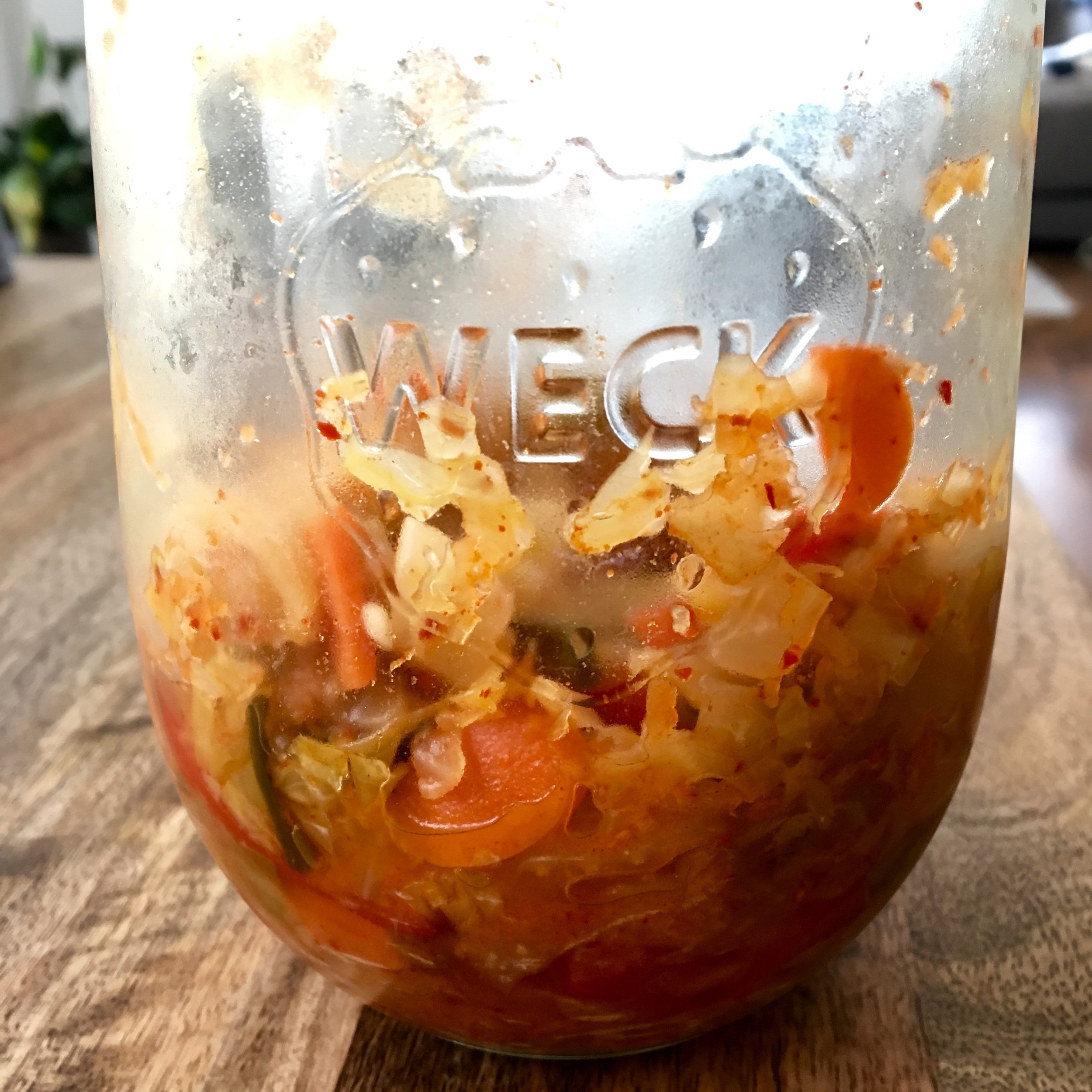 Get into the habit of regularly eating your fermented vegetables.