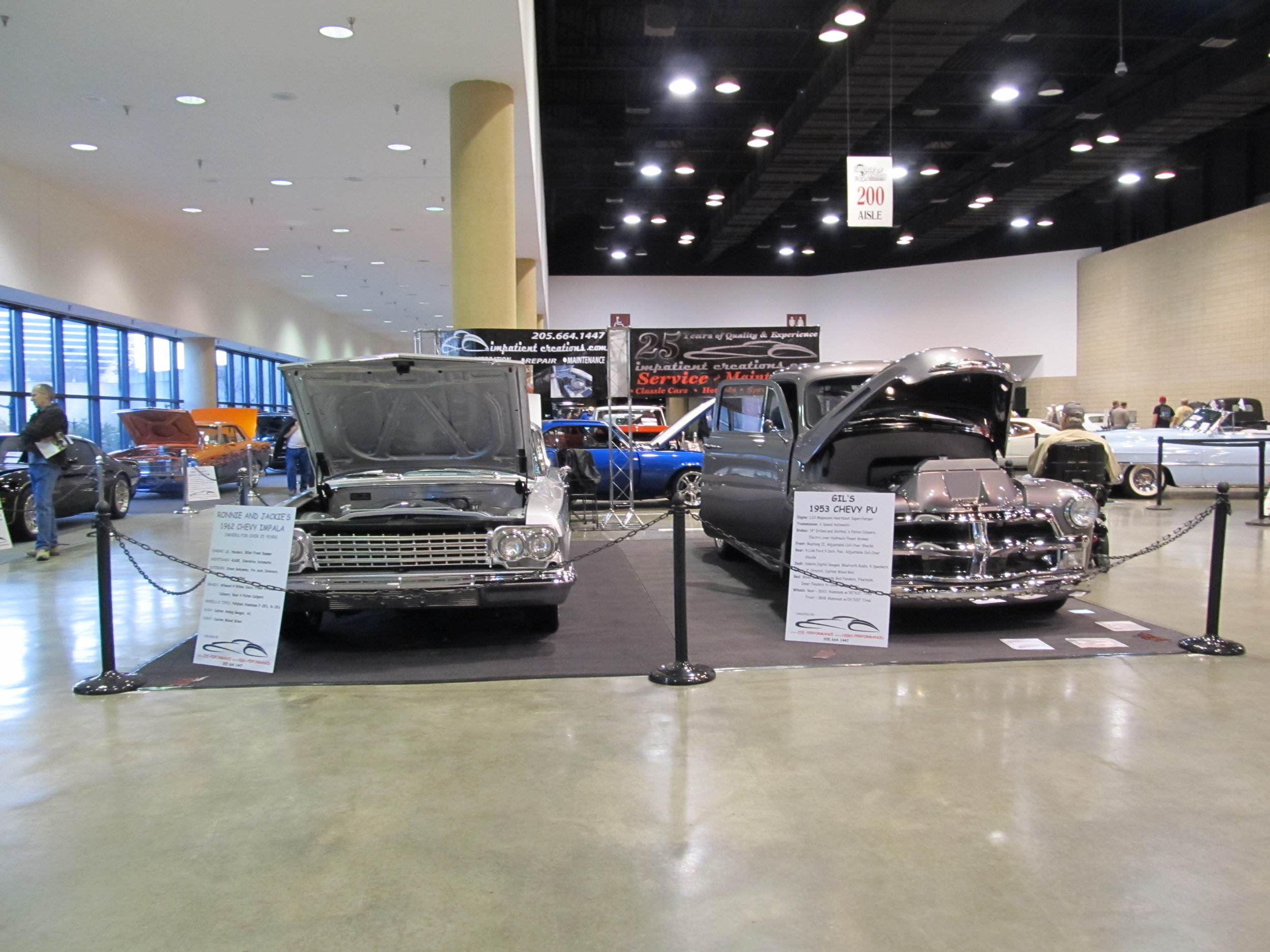 Two car's Impatient Creations featured at World of Wheels