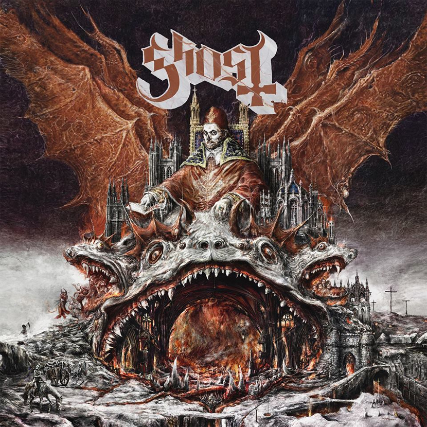 Album Review: Prequelle by Ghost -  I remember seeing Ghost on their first ever US tour at the good 'ol Mr Smalls Theater here in the Pittsburgh land. The Nameless Ghoul's led by the late Papa Emeritus I summoned a ritual mass of throwback 70's occult prog rock to a decently packed club cult following of rabid fans. Fast forward about a decade and Ghost have transcended into a giant theater pop metal production, but still with the heart of Lucifer, baby. If you weren't a fan of Ghost then, odds are you probably aren't going to be now. But, I can see if you are a fan of earlier (heavier) Ghost, I can see why you may be at odds with their new record, Prequelle. But, I think that's what makes it so special. Since the release of their first record, it became very clear Ghost were pushing towards expanding their musical direction with every subsequent release. II, Infestissumanium, had a lot more atmosphere, slower tunes, and less heavy riffage than the first. III, Meloria, was a glorious combination of the two, and arguably their best work… well, at least until now. IV, Prequelle, continues in a much more melodic direction shifting the band from 70's prog metal to maybe 80's prog occult pop rock? Regardless of how you chose to classify it, it is far different from its hard rock precursors; and by different, I mean better…in a lot of ways, anyway. Or at least more impressive, musically speaking, solidifying Ghost's spot as the new (anti)heroes of rock n roll. Prequelle is a HUGE sounding record. I mean it has everything from Papa's (Now Cardinal Copia… more on that later) signature death snarls and high pitched range, to beautiful harmonies, to orchestra, to blazing twin lead guitars, to saxophone solos; Ghost cover a lot of ground on this one; from the fire abysses in lucifers lair, to the rat infested grimy Earth, to the triumphant mountains in the heavens above. Ghost takes you there. Even though a giant musical leap has been made expanding their sound and performance