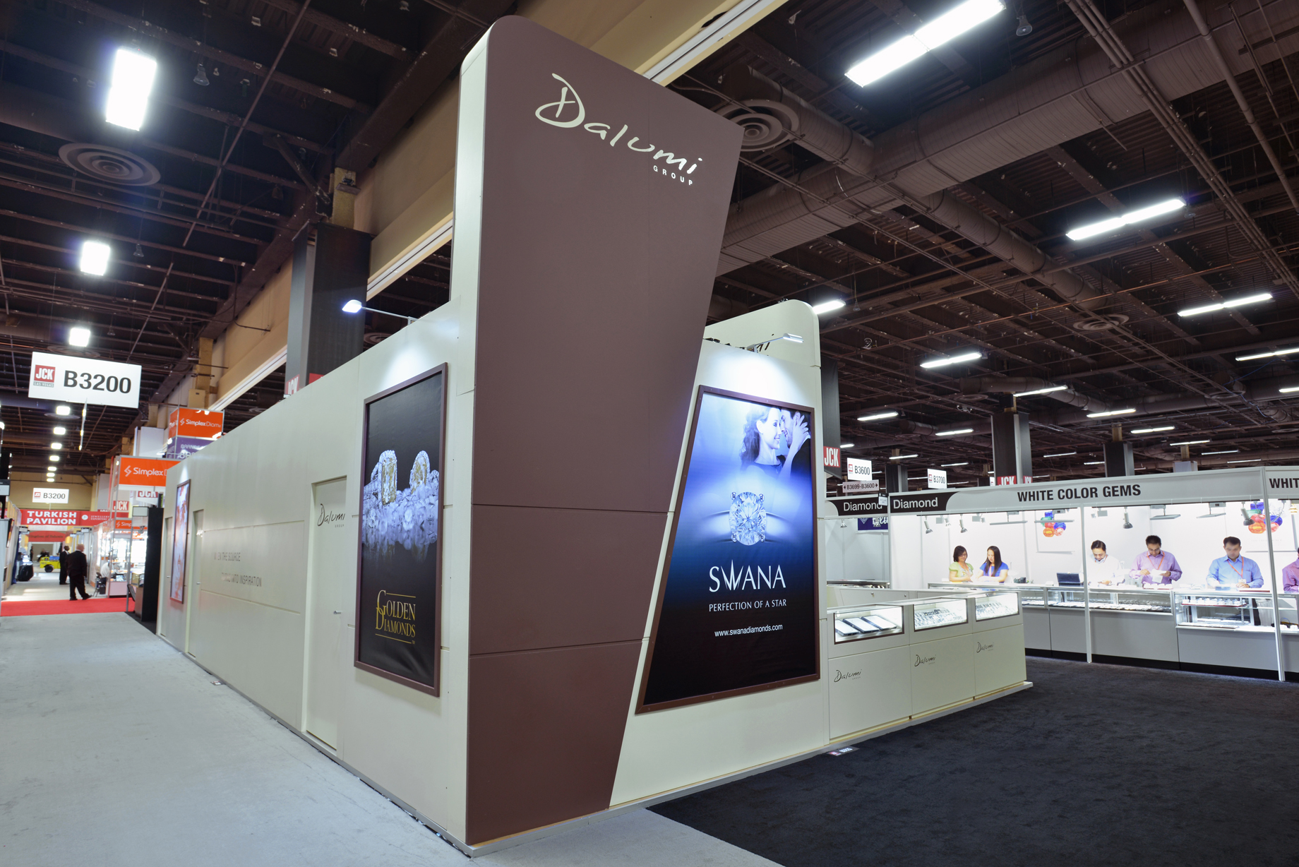 Custom pavilion exhibit booth