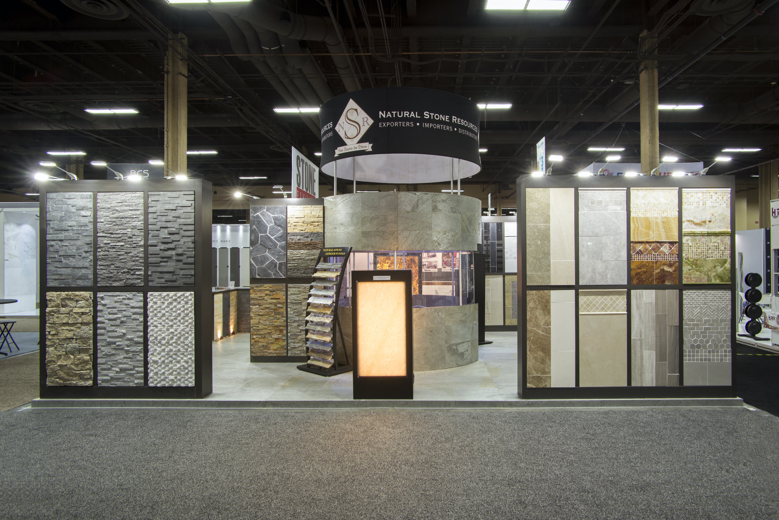 Custom tradeshow booth highlighting client product
