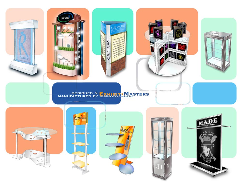 Examples of trade show point of purchase displays