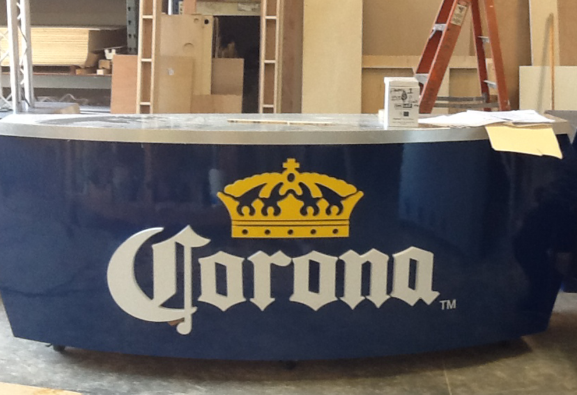 Bar to serve on exhibit floor