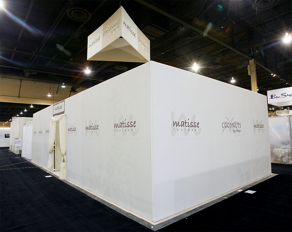 Private custom trade show booth