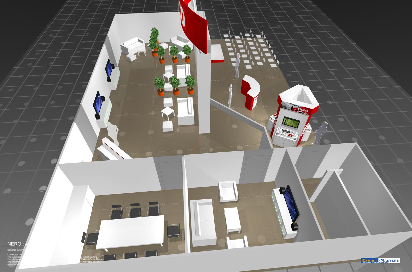 Modular trade show booth schematic
