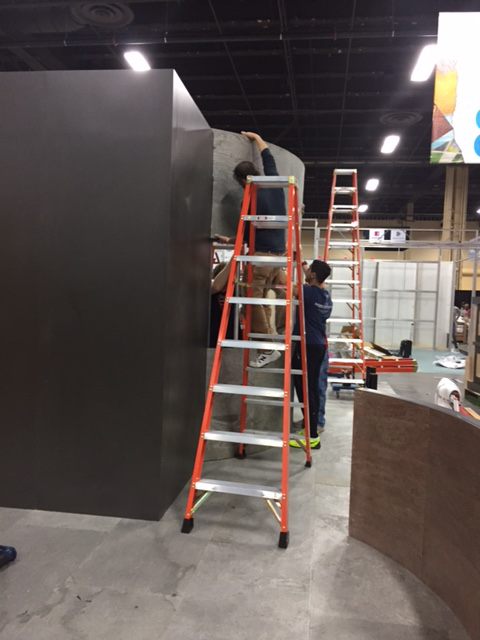 Installing trade show booths