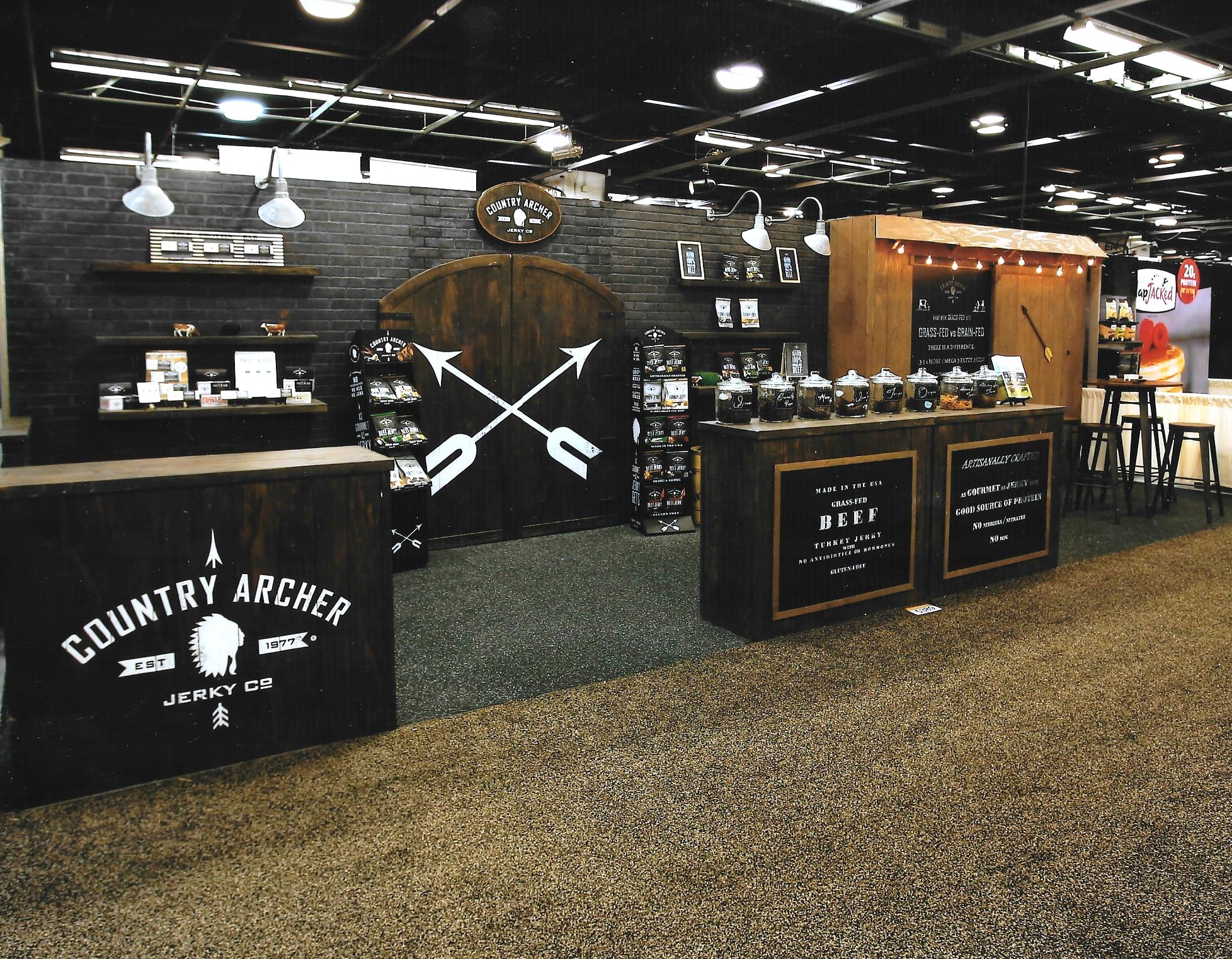 Custom countertop trade show booth