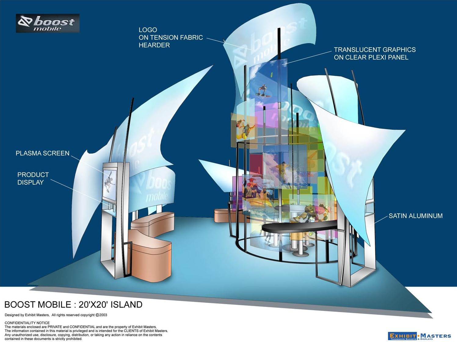 Design for custom trade show booth