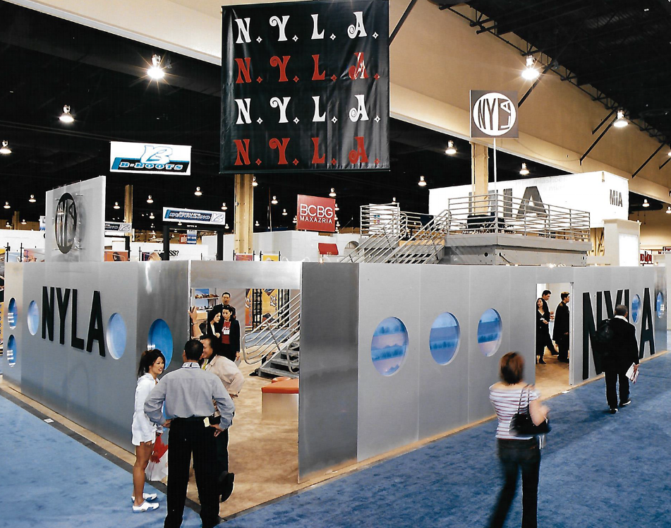 Custom two-story trade show booth