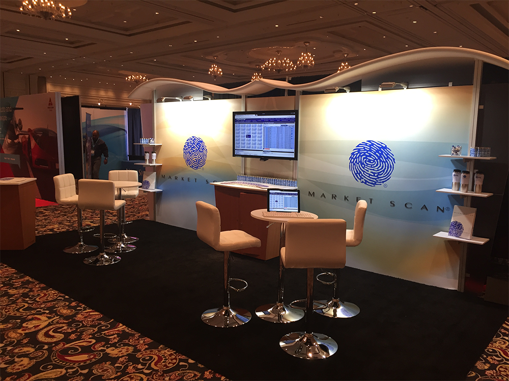 Modular trade show booth for demonstrations