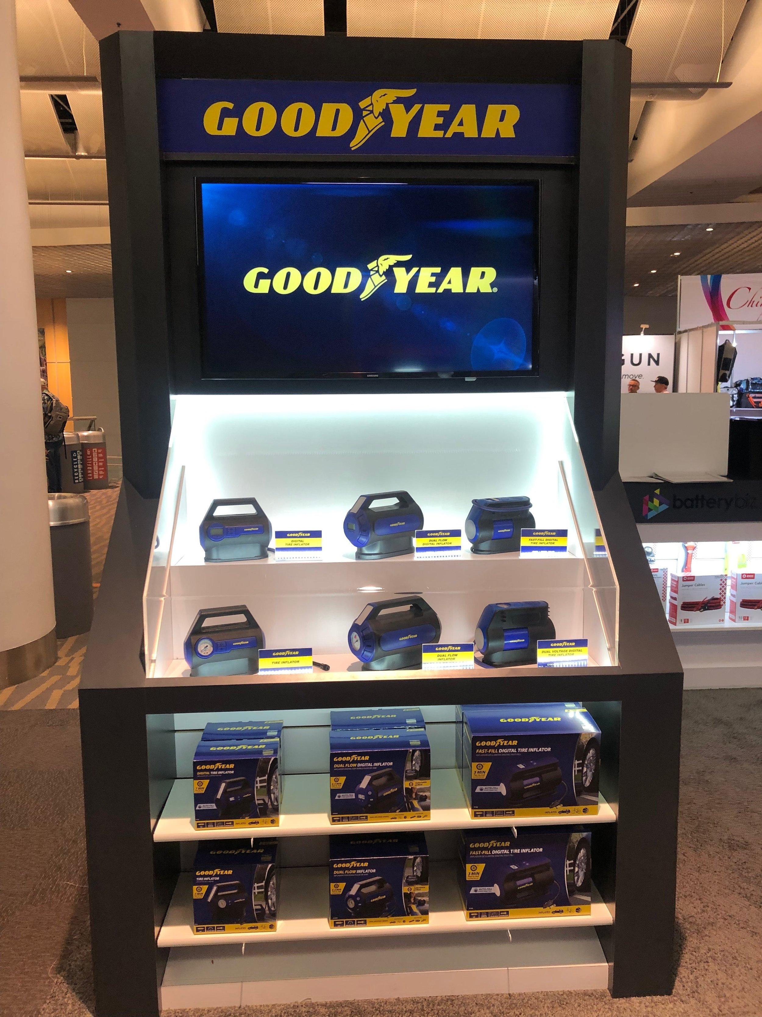 Exhibit floor kiosk display