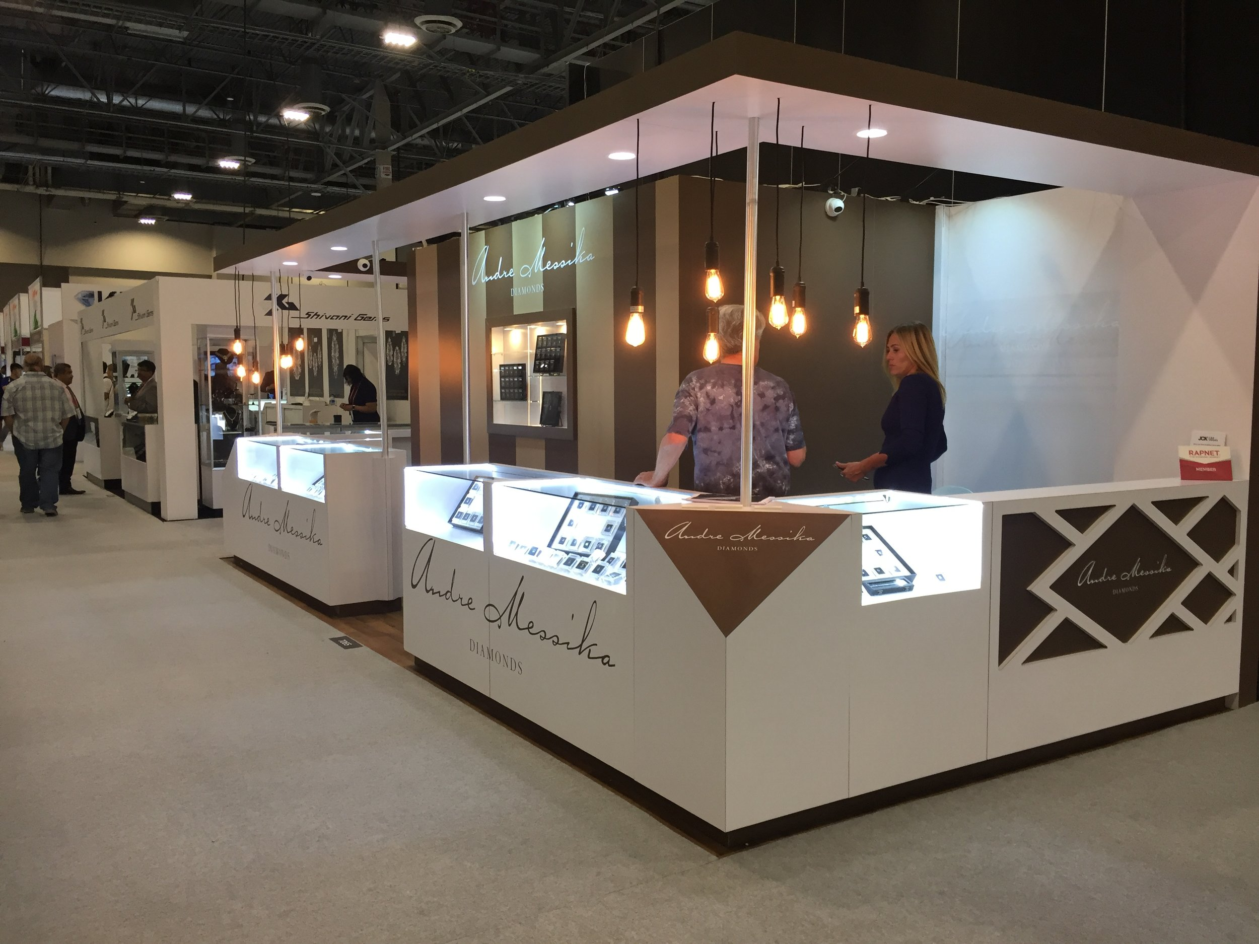 Custom counter exhibit booth