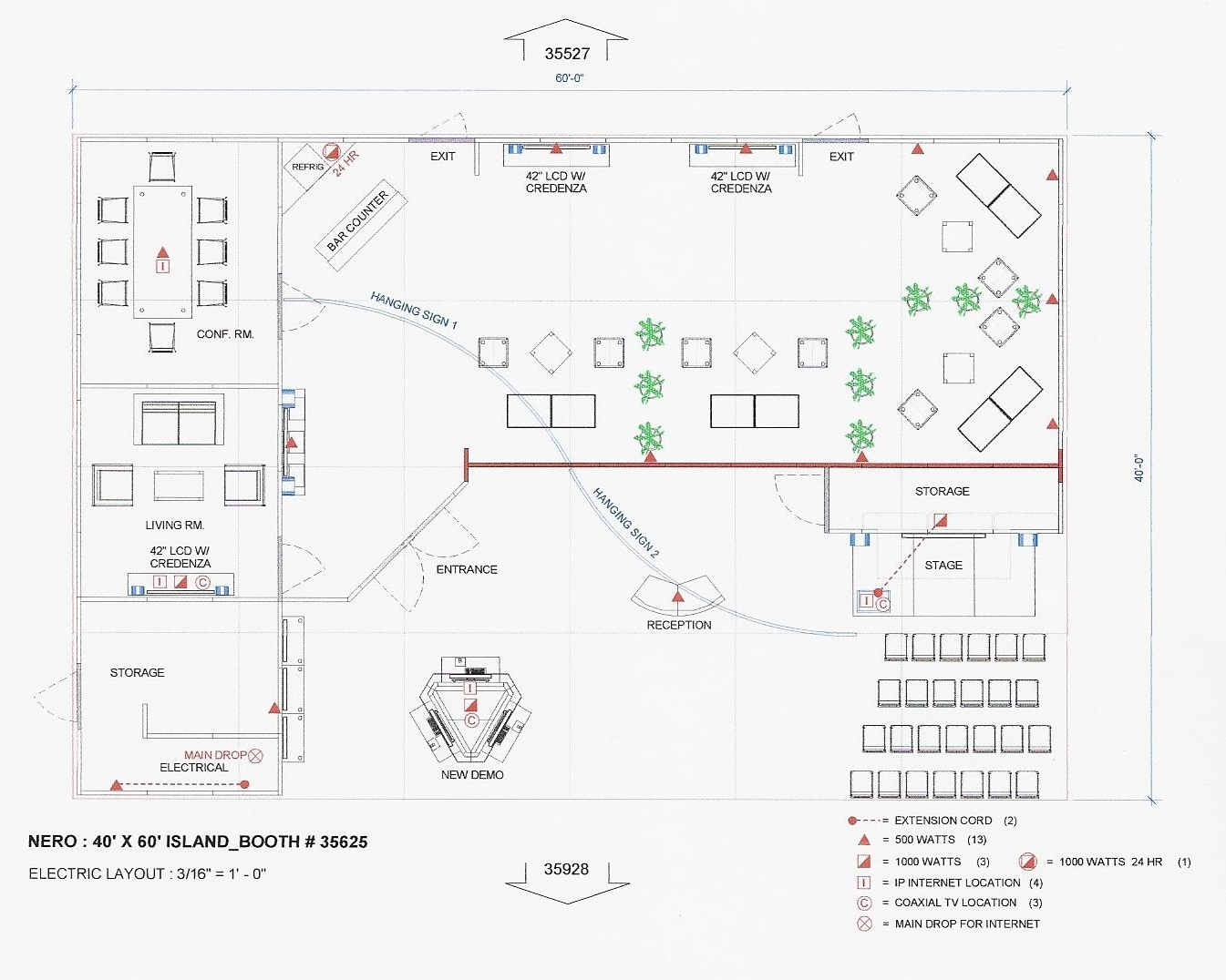 Trade show booth schematic