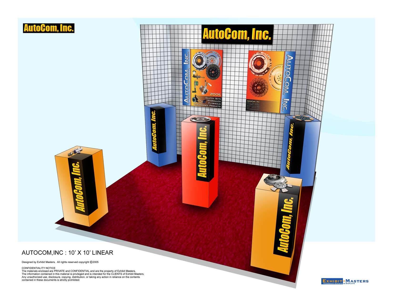 Trade show lightweight booth option