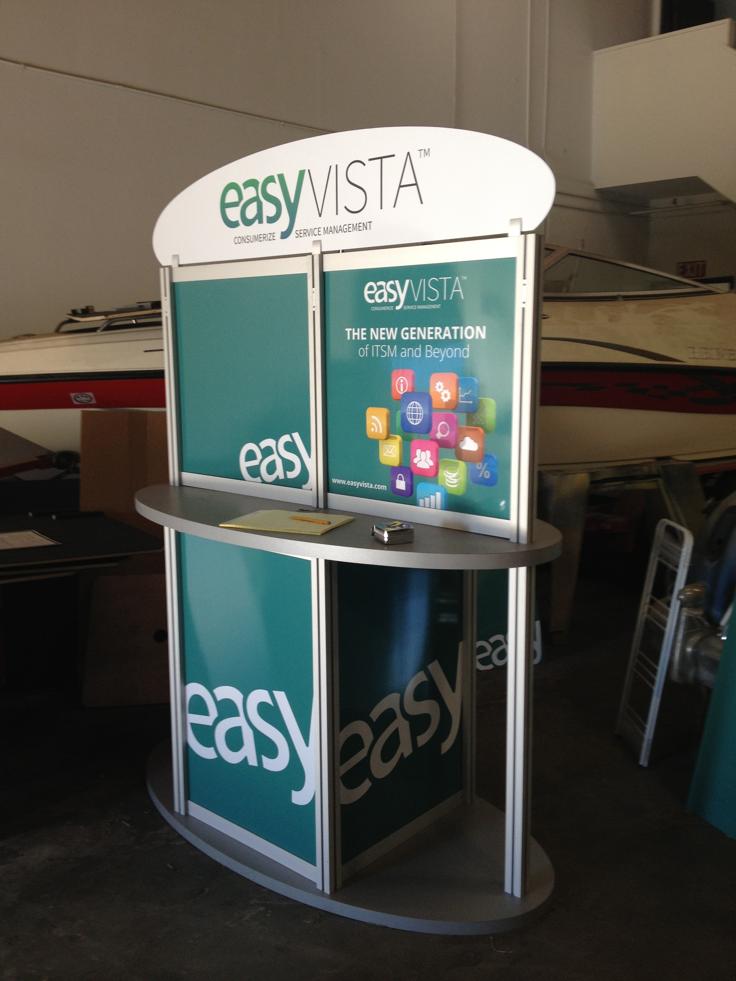 Trade show extrusion counter