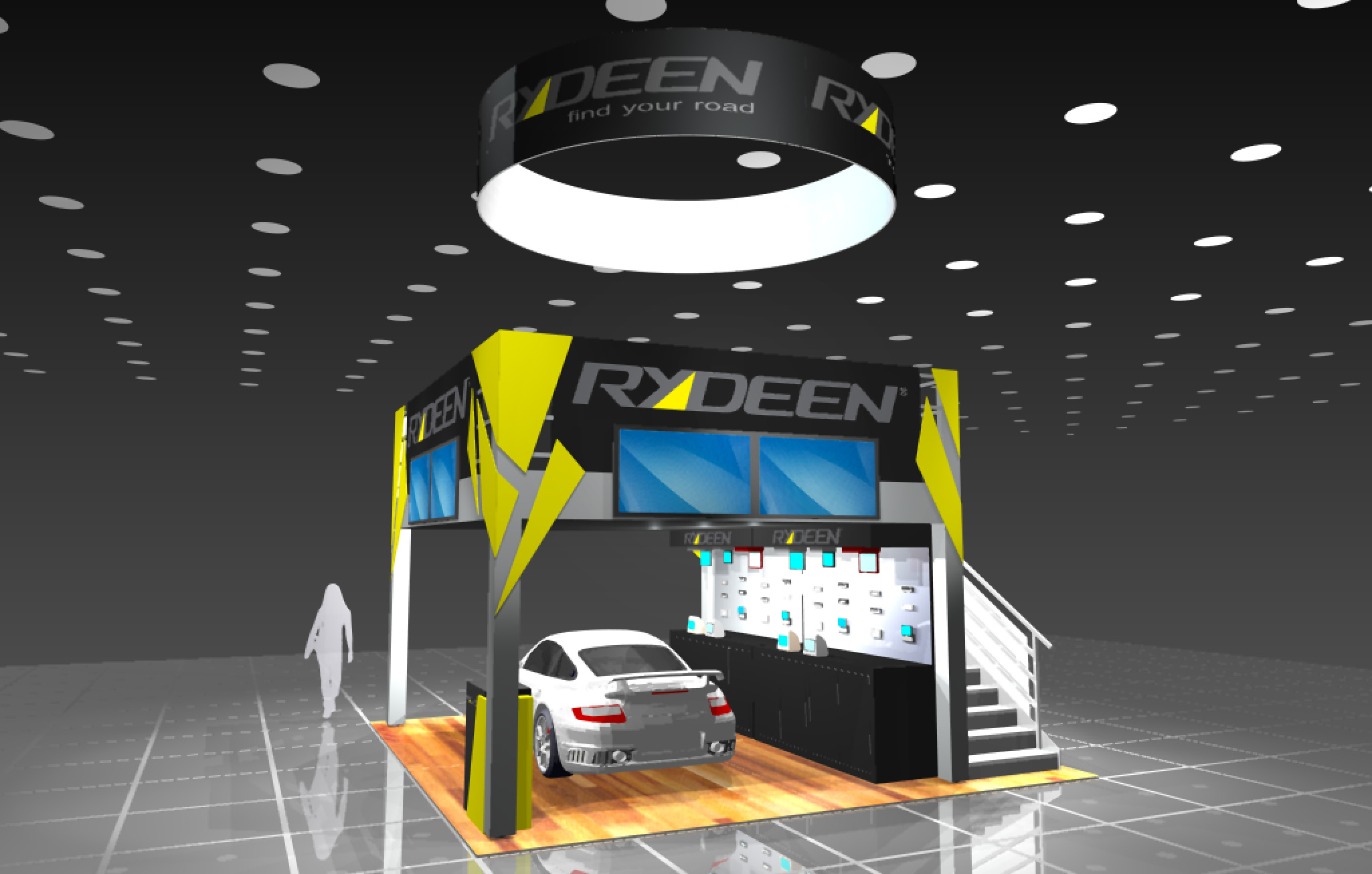 Custom car display for trade show