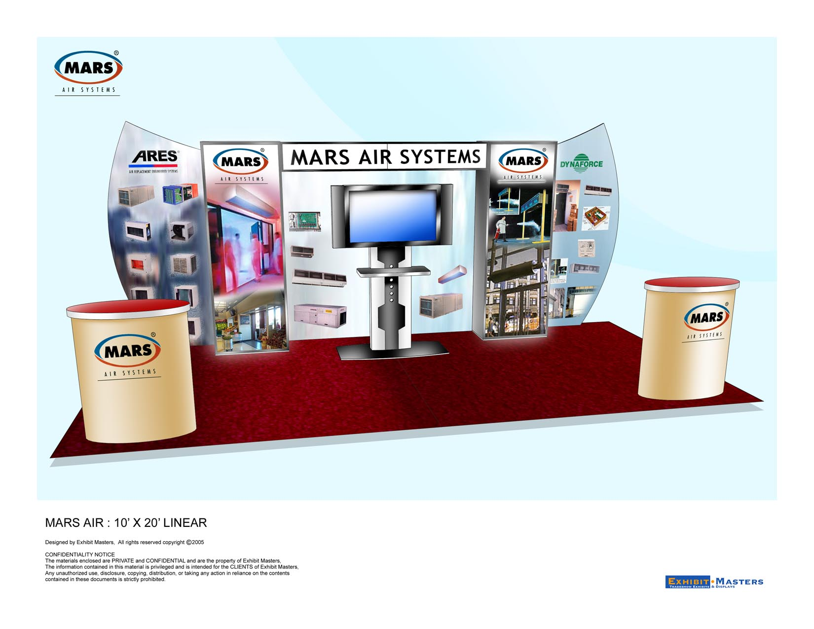 Lightweight trade show booth rendering