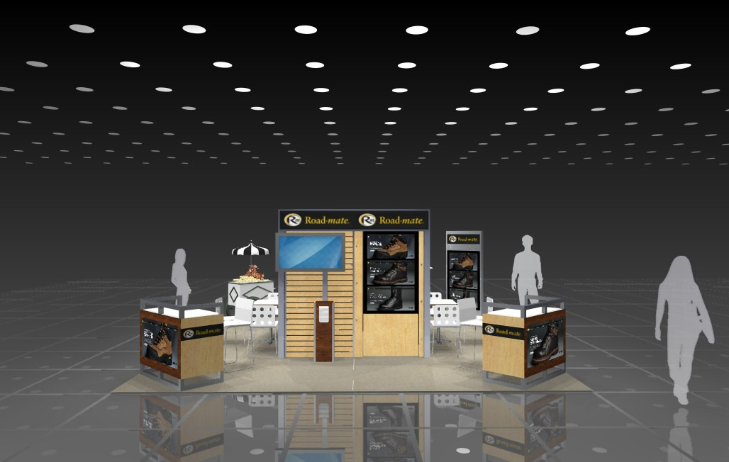 Rendering of 20' x 20' Tradeshow Booth