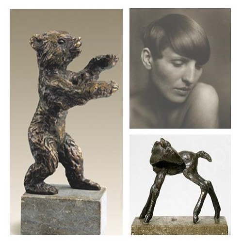 """The Berlinale Bear is the coveted trophy for winners at Germany's eponymous film festival. But unlike the Academy's """"Oscar"""" statuette, it was created by a woman. German artist Renee Sintenis (1888-1965) was renowned for her small bronze sculptures of animals. Her passion for the """"animals who let me be myself"""" comes through in these endearing figures. The Dial, August 1926.  #scofieldthayer #thedialmagazine #reneesintenis #berlinale #berlinbear #sculpture #animalart #bronzesculpture #oscarstatue #oscars #modernart #arthistory #artoftheday"""
