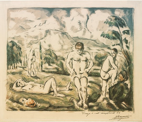 """""""Cezanne is the father of us all"""", has been attributed to both Picasso and Matisse for Paul Cezanne's pioneering role building the bridge between Impressionism and Cubism. Born into a very wealthy family, he was free from financial worries but suffered from diabetes and depression. """"The Large Bathers"""" (1898) is a modern take on a classic subject - and one he returned to again and again. Happy Birthday Cezanne - January 19, 1839. Scofield Thayer Collection.  #thedialmagazine #scofieldthayer #paulcezanne #cezanne #impressionism #cubism #bathers #metmuseum #metdrawingsandprints #frenchpainter #nudes #arthistory #artoftheday  #depression"""