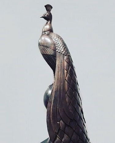 """Modernist sculptor Gaston Lachaise (1882-1935) is best known for his voluptuous nudes inspired by his beloved wife Isabel. But he also sculpted animals as in """"Peacock"""" (1920) - The Dial, April 1921. A favorite of MoMA founder Abby Rockefeller and her circle, Lachaise was commissioned by John Deering (International Harvester fortune) to create """"Peacock"""" for the elaborate gardens at his palatial winter residence in Miami. """"Vizcaya"""", a National Historic Landmark, is open year-round.  #scofieldthayer #thedialmagazine #gastonlachaise #modernsculpture #peacock #bronzesculpture #gardensculpture #vizcayamuseum #vizcaya #nationalhistoriclandmark #miamiculture #arthistory #artoftheday"""