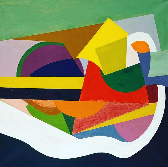 """E.E. Cummings said that he was """"a painter in Paris and a writer in New York"""" – both his visual art and distinctive lower-case poems were often featured in The Dial. As a painter, he was heavily influenced by the Cubists as in """"Sound"""" (1919). This abstract oil was purchased by Cummings's friend and patron Thayer. From March-July 2018, it is part of the exhibition """"America's Cool Modernism – O'Keeffe to Hopper"""" at the Ashmolean Museum at Oxford, the first university museum. Scofield Thayer Collection. #scofieldthayer #thedialmagazine #eecummings #sound #cubism #abstractart #ashmolean #oxford #sunybrockport #metmuseum  #artoftheday #georgiaokeeffe #edwardhopper #modernism"""