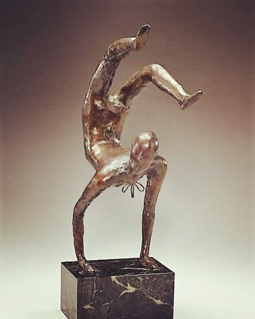 """The spare, fluid forms of Polish-born sculptor Elie Nadelman (1882-1946) reflect the Modernist philosophy of form over subject matter. Animals, dancers, musicians and circus performers were favored subjects as in """"Acrobat"""" - The Dial, June 1925.  A master of bronze, plaster and wood, Nadelman's influences were classical antiquity and naïve art. A passionate collector of American folk art,  he created the first American museum for this genre. Later, financial pressure forced him to sell his 15,000-piece collection – to the Museum of the City of New York and Colonial Williamsburg. Depression ensued and he committed suicide at the age of 64.  #scofieldthayer #thedialmagazine #elienadelman #modernsculpture #acrobat #polishartist #museumofthecityofnewyork #colonialwilliamsburg #folkart #amoncartermuseum #artoftheday"""