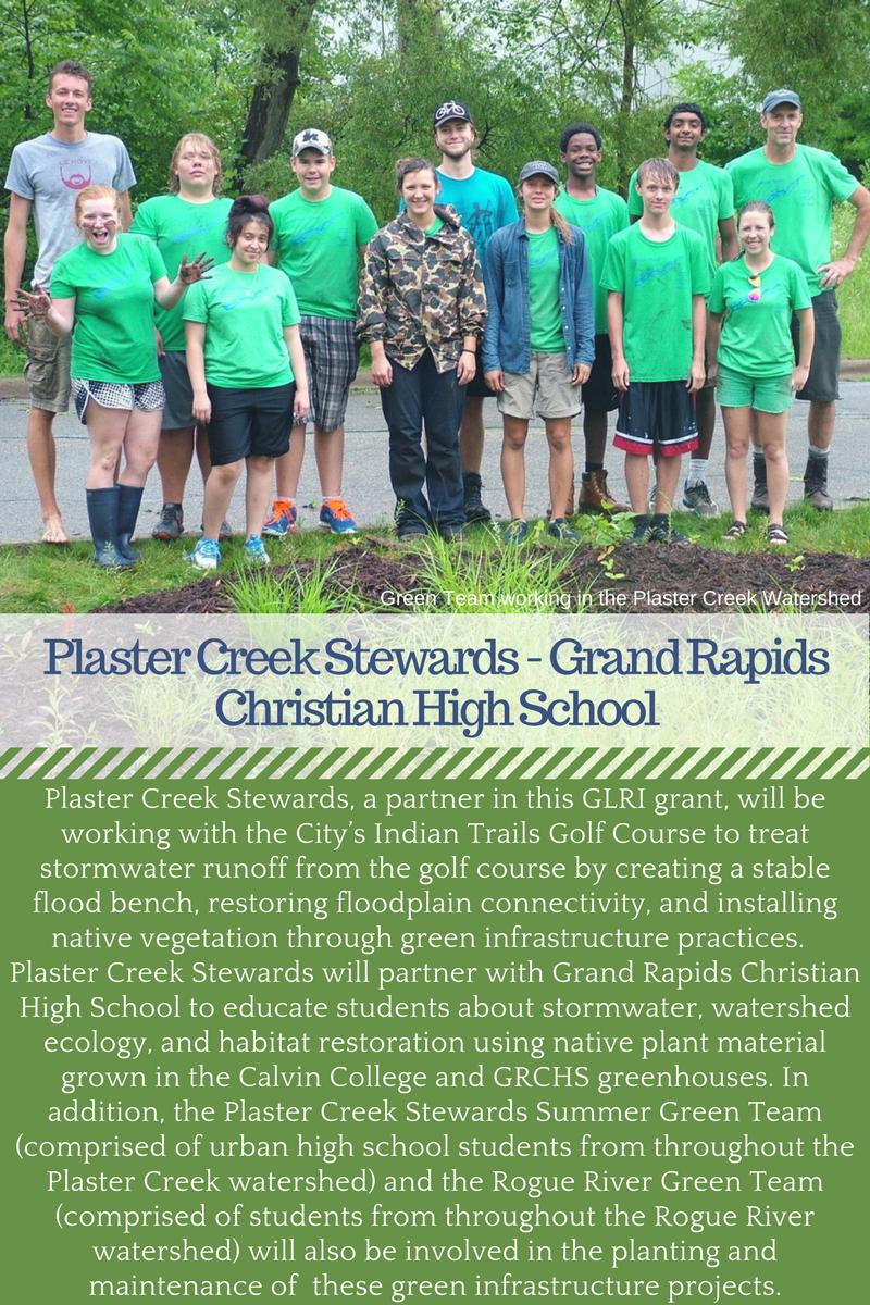 Plaster Creek Stewards Calvin College Grand Rapids Christian High School GLRI