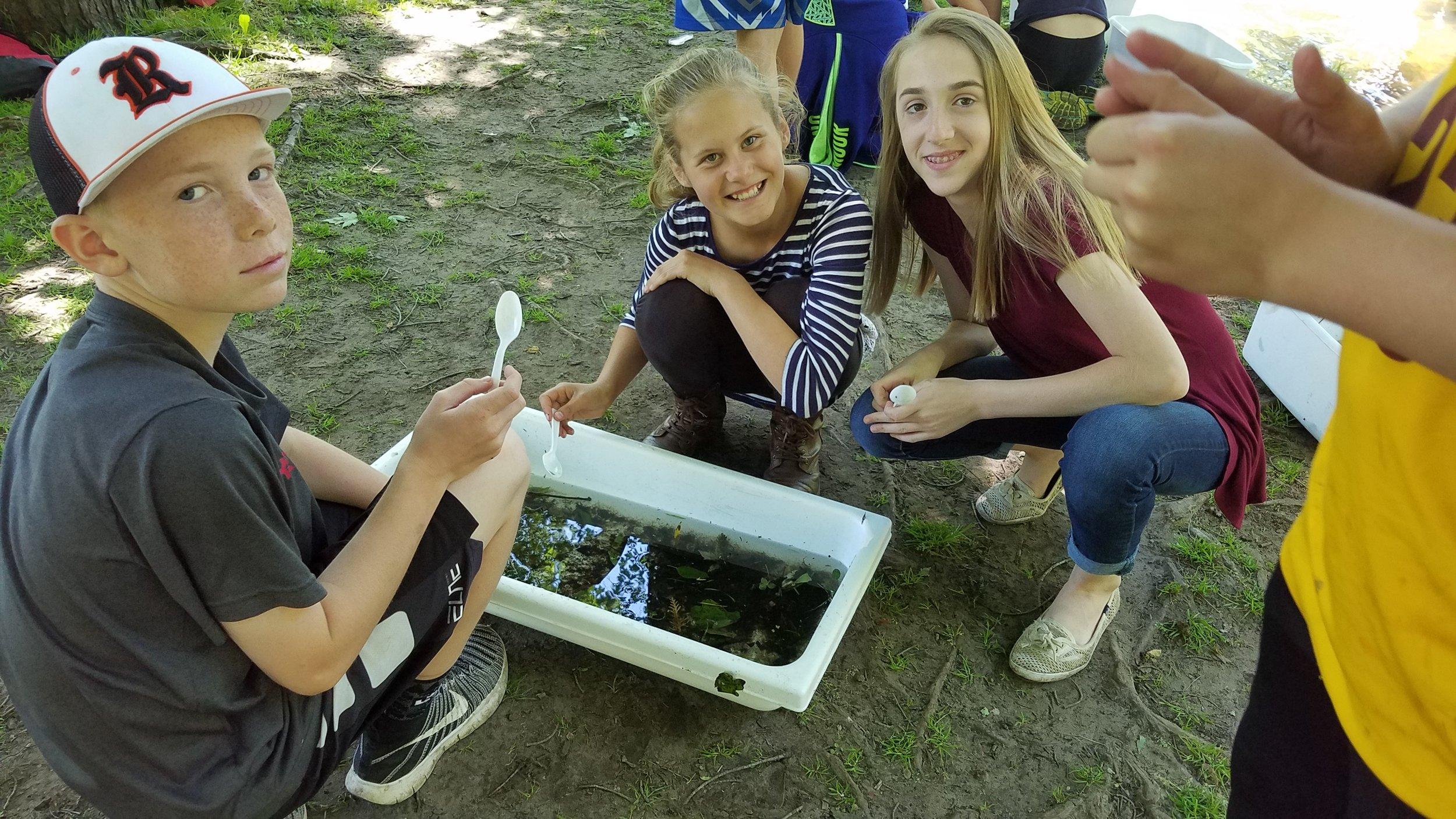 East Rockford Middle School Students Macro Invertebrate Study