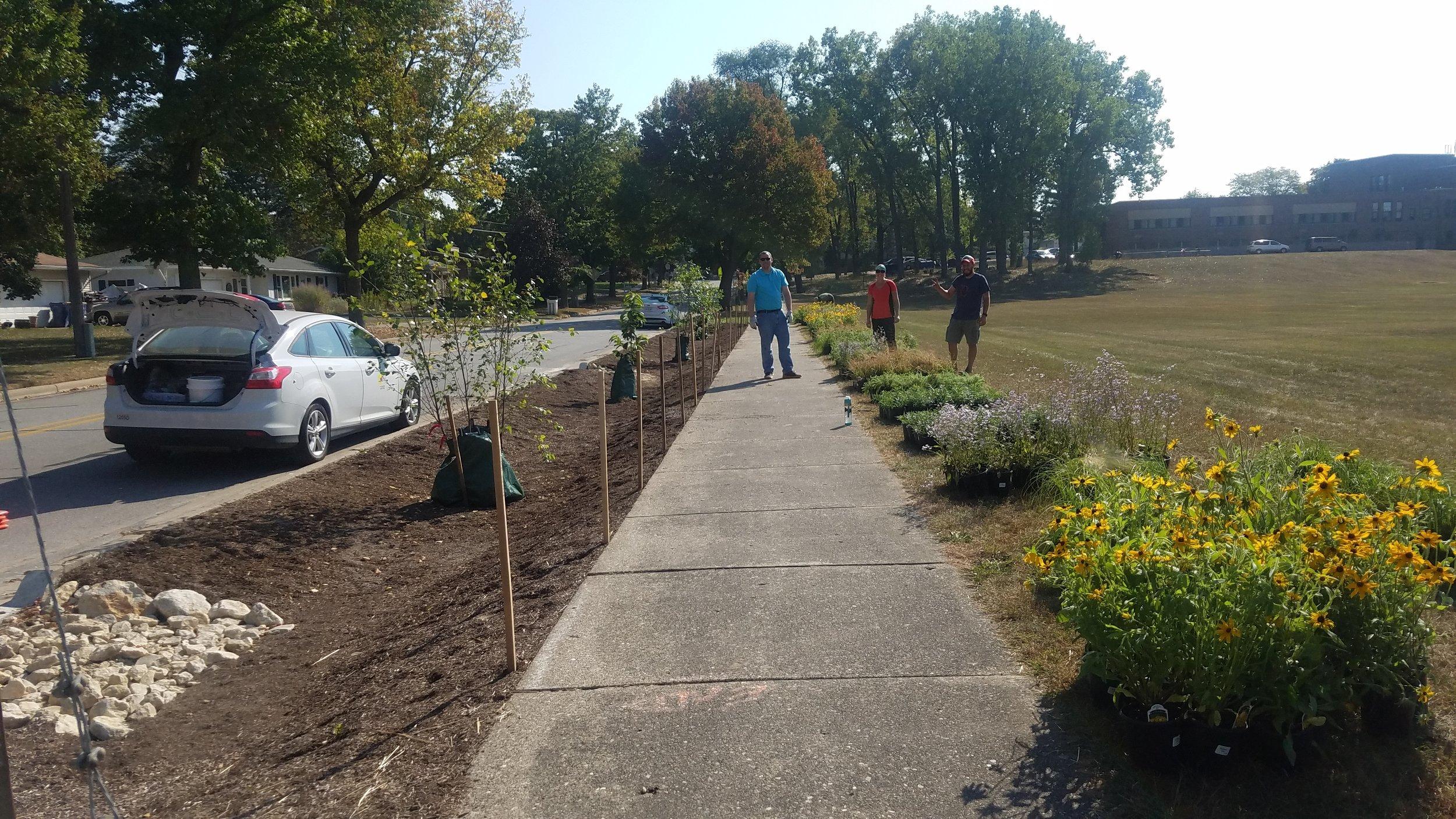 North Park Montessori Planting Day