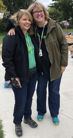 Patty Tolly, left, and Sandy Brunett started a partnership between Forest Hills and Grandville students to observe local water systems