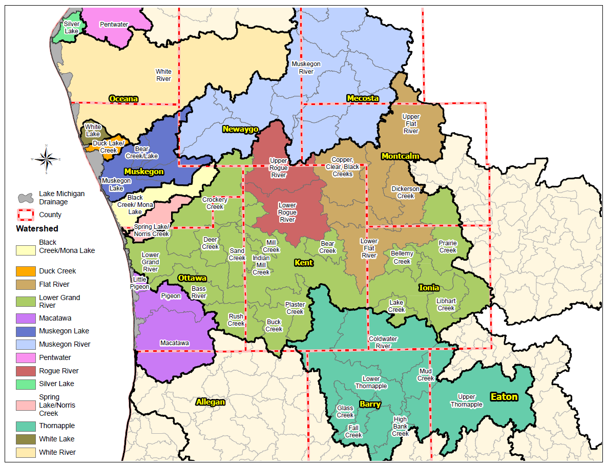 Region 4 Watersheds, click to enlarge