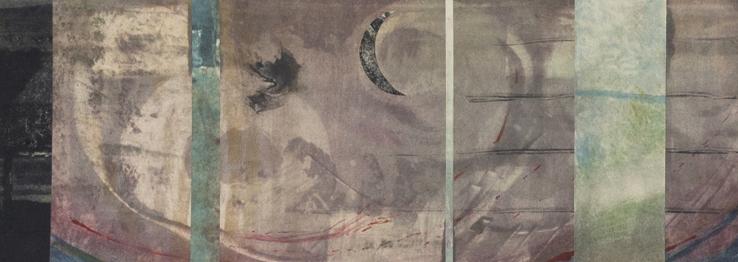 Cosmic Tides, monotype,detail, 2014