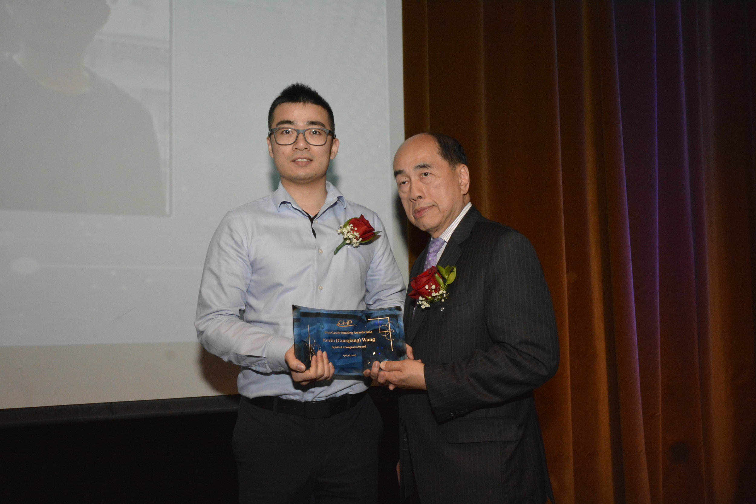 Mr. Kevin (Guoqiang) Wang (Left),  Assistant Civil Engineer of MTA