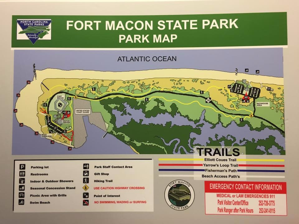 Fort+Macon+Map