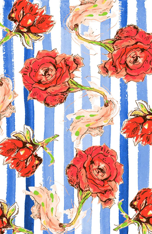 Blue stripes watercolor rose pattern web.jpg