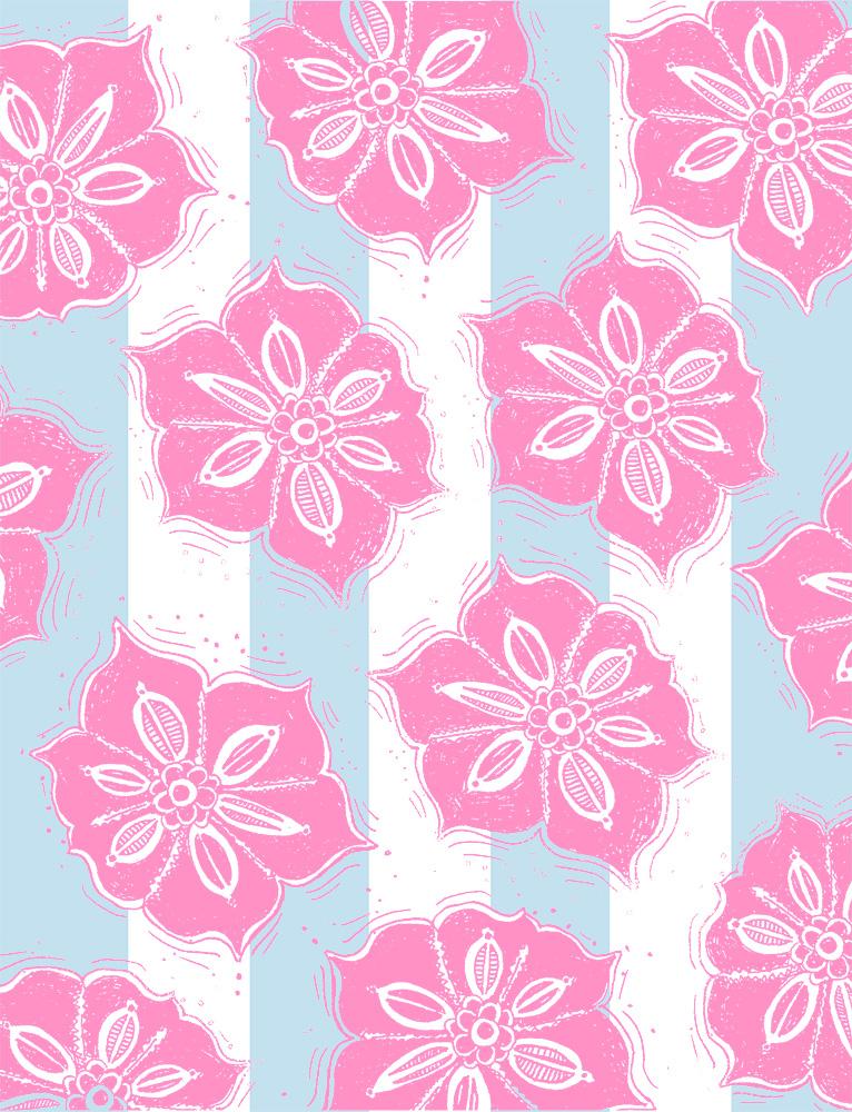 Pink Hawaii flower blue stripe pattern web.jpg