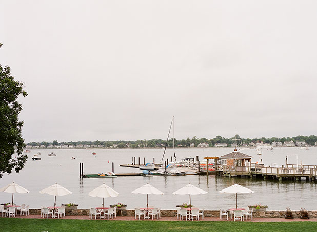 This is an image of the waterfront view at Stamford Yacht club in Stamford, Connecticut.