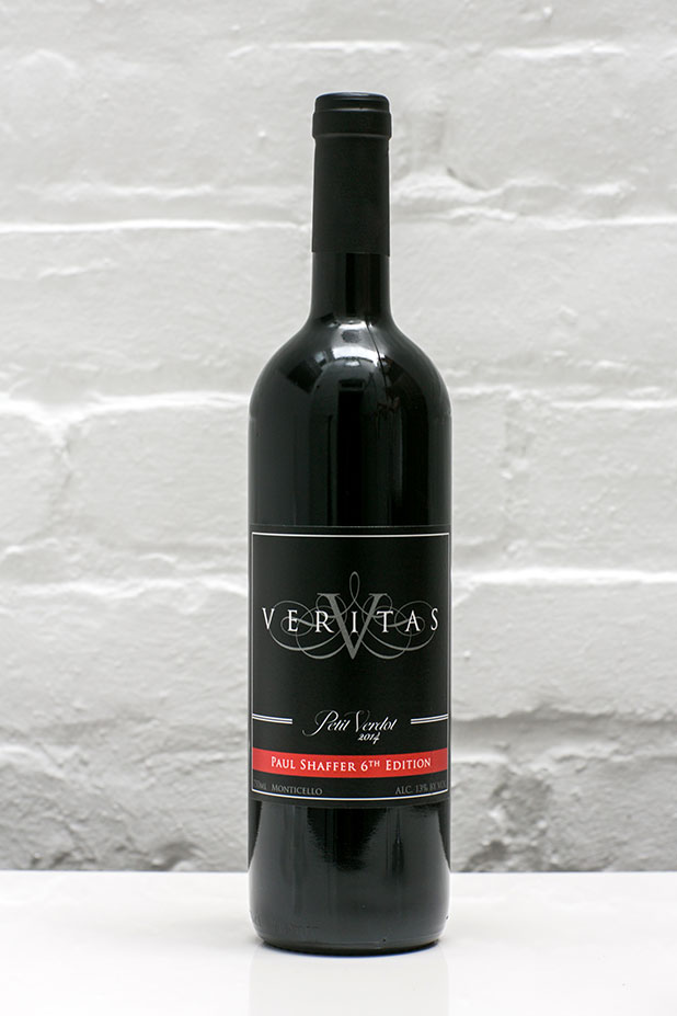 Product photography of Veritas Vineyards & Winery wine bottle