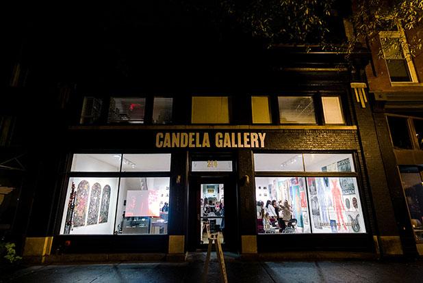 candella gallery at night