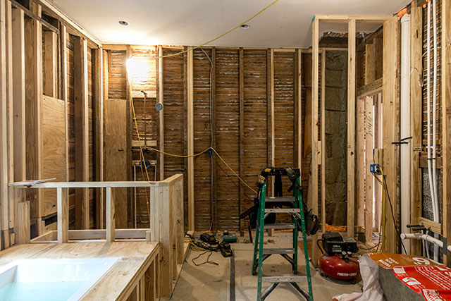 Interior photography during renovation