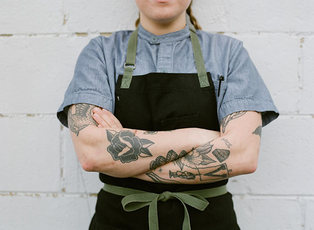 Richmond photographer Sarah Der photographs local chefs for magazine called B Side
