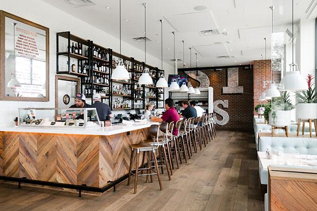 interior photography of richmond restaurant