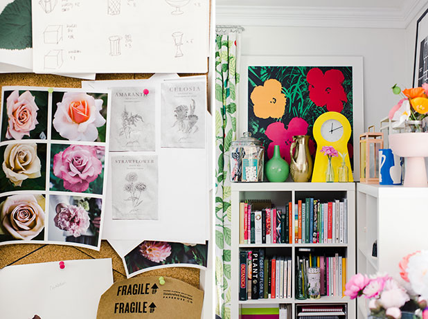 A designer's colorful office and work space - Sarah Der
