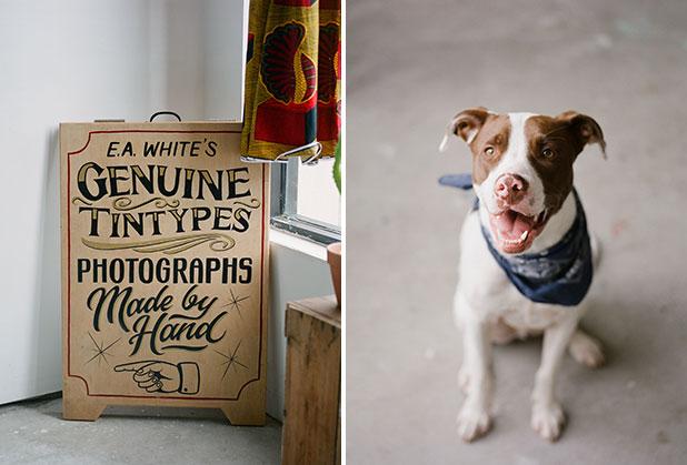 Tintype photographer Emily White's studio