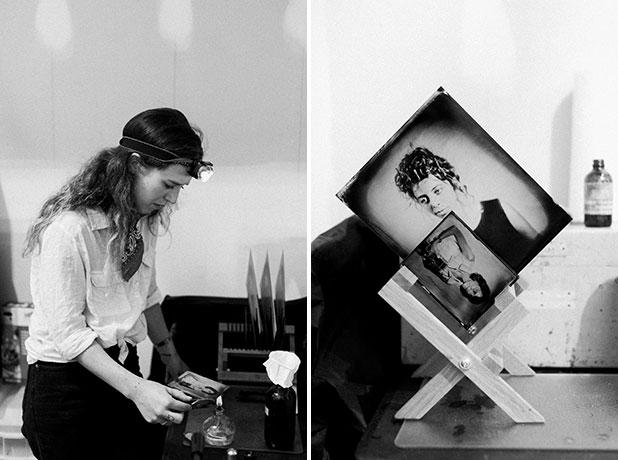 richmond tintype photographer emily white in her studio