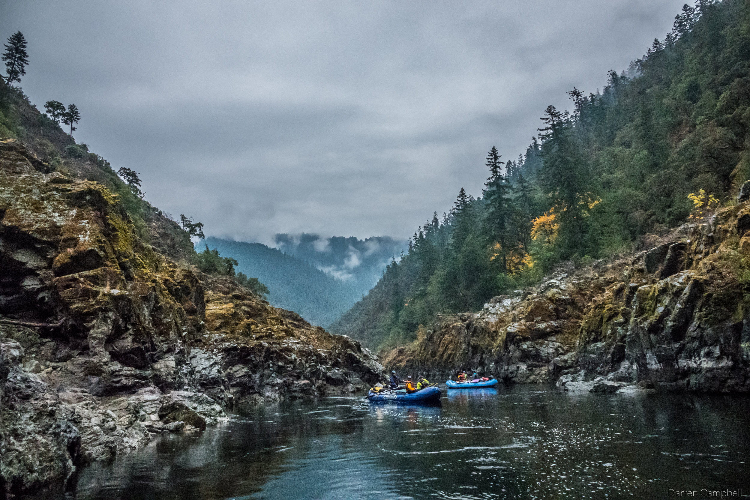 Floating the Wild & Scenic lower Rogue in the fall. Photo by Darren Campbell